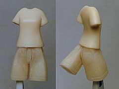 素材はアクリルレジン、で てけとーに削りだしで製作